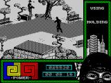 "Last Ninja 2: Back with a Vengeance ZX Spectrum Level 1, ""The Park"": searching for the way out.<br>