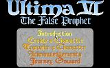 Ultima VI: The False Prophet DOS The title screen