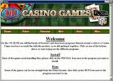 101 Casino Games Windows The CD autoloads and displays this screen