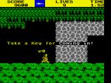 Ghosts 'N Goblins ZX Spectrum First key is obtained.