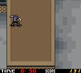 Tony Hawk's Pro Skater 2 Game Boy Color Jumping into the roof.