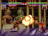 Blood Warrior Arcade Syogethu vs Kasumi fire attack