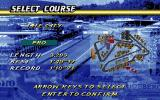 Speed Haste DOS Select Course Screen