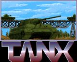 Tanx Amiga The game's title screen