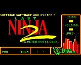 Last Ninja 2: Back with a Vengeance BBC Micro Loading Screen.