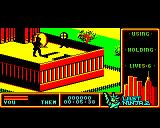 "Last Ninja 2: Back with a Vengeance BBC Micro Level 1, ""The Park"": Transporting assets area.<br>