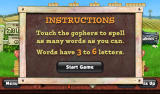 Pogo Games Android <i>Word Whomp</i>: instructions