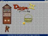 Once the registration key has been entered the player has access to the DOGZ world where they pick a pet<br>Throughout the game continually puts up helpful messages across the bottom of the screen
