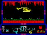 Game Over II ZX Spectrum Flying by helicopter. Too bad you can't control him.