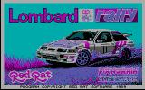 Lombard RAC Rally DOS Title Screen (CGA)