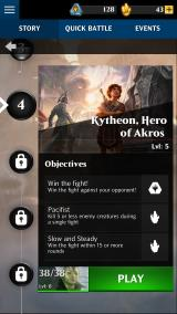 Magic: The Gathering - Puzzle Quest iPhone Level selection (with level description and objectives)
