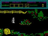 The Curse of Sherwood ZX Spectrum First location.