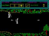 The Curse of Sherwood ZX Spectrum This person has a club, which is required to destroy skeletons.