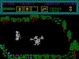 The Curse of Sherwood ZX Spectrum Dragon guarding gold.