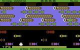 Frogger Commodore 64 After the first move, on the dangerous street (Sierra version)