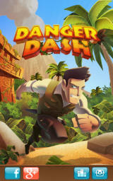 Danger Dash Android Title screen