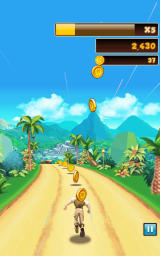 Danger Dash Android Collecting regular coins.