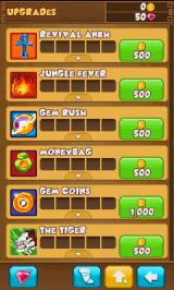 Danger Dash J2ME You need to pay coins to unlock and upgrade the power-ups.