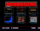 The Assassins: PD Games Volume 02 Amiga This is the screen where the player made their game selection. A long message scrolls across the bottom of the screen