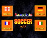 Sensible Soccer: European Champions: 92/93 Edition Amiga Language selection