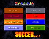 Sensible Soccer: European Champions - 92/93 Edition Amiga Main menu