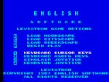 Leviathan ZX Spectrum Menu screen.