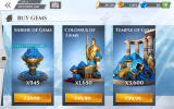 Gods of Rome Android In-app purchases for gems