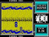 Super Stuntman ZX Spectrum Level 4: The Canyon Jump. Here it is important at the right time to launch a turbo acceleration jump.