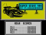 Super Stuntman ZX Spectrum High Scores.