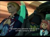 Xenosaga: Episode I - Der Wille zur Macht PlayStation 2 Ziggy and Momo (she's the one flying the ship, though)