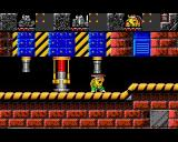 The Lost Vikings Amiga Techno level again. This time Olaf is providing a secure way through beneath the piston.