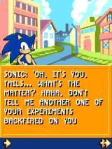 Sonic Jump J2ME Sonic gets a call from Tails in the introduction sequence.