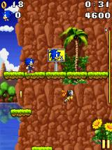 Sonic Jump J2ME Reach the iconic sign near the top to complete the level.