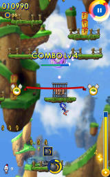 Sonic Jump Fever Android Passing the ribbon extends time.