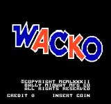 Wacko Arcade Title screen