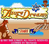 Azure Dreams Game Boy Color Title screen