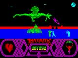 Thanatos ZX Spectrum The Sorcerer imprisoned inside the castle.<br>