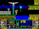 Jungle Warrior ZX Spectrum Jump and ball  moves us to the next location. It's simple. The spend on it no more than half an hour.