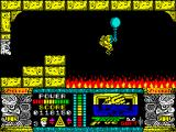 Jungle Warrior ZX Spectrum Flying over the sea of fire.
