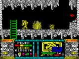 Jungle Warrior ZX Spectrum Inside the caves.