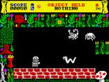 "Doomskulle ZX Spectrum ""Monochrome"" mode. All monsters are white. Nothing else has changed."