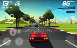 Horizon Chase: World Tour Android A straight section with some race tokens up ahead