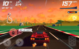 Horizon Chase: World Tour Android Sometimes comments appear when you pass opponents.
