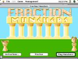 Fraction Munchers Macintosh Title / main menu