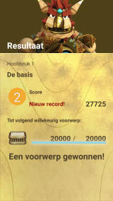 Knack's Quest Android Game results (Dutch version)