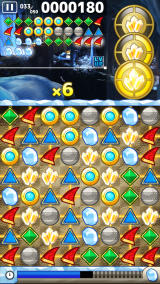 Knack's Quest Android Combos are shown in the top left corner of the screen.