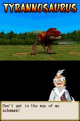 Dinosaur King Nintendo DS Dr. Alpha summons his T-Rex.