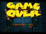 Crash Bandicoot PlayStation Game over, but you can continue.