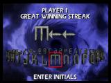 Mortal Kombat 4 PlayStation You can enter initials when you got a new winning streak record.