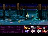 The Secret of Monkey Island FM Towns There is a way to die in this game, Guybrush can hold his breath for 10 minutes, after that he actually drowns and the verb menu changes into various morbid actions